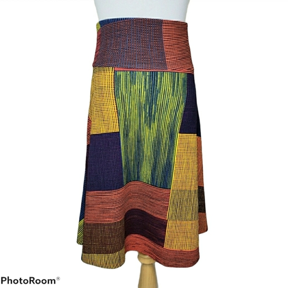 LuLaRoe Azure A-line Skirt Multi Color Size XS